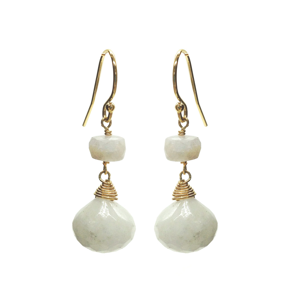 African Chalcedony Silverite Earrings, Earrings - Luna Lili Jewelry
