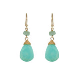 Peruvian Opal Teardrop Earrings, Earrings - Luna Lili Jewelry