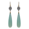 Seafoam Chalcedony Kite Earrings, Earrings - Luna Lili Jewelry