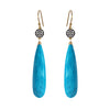 Turquoise Circle Earrings, Earrings - Luna Lili Jewelry