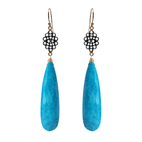 Amazonite Briolette Drop Earrings