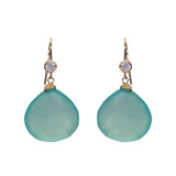 Blue Chalcedony Classic Earring, Earrings - Luna Lili Jewelry