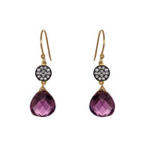 Petite Amethyst White Topaz Accent Earrings, Earrings - Luna Lili Jewelry