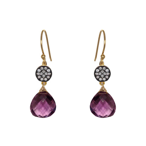 Amethyst Teardrop Chandelier Earrings