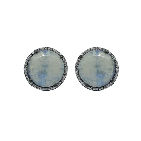 African Chalcedony Silverite Earrings