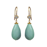 Amazonite Briolette CZ Earrings, Earrings - Luna Lili Jewelry