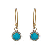 Turquoise & Diamond Hook Earrings, Earrings - Luna Lili Jewelry