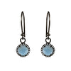 Sky Blue Topaz & Diamond Hook Earrings, Earrings - Luna Lili Jewelry