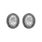 Slice Polki Diamond Stud Earrings, Earrings - Luna Lili Jewelry