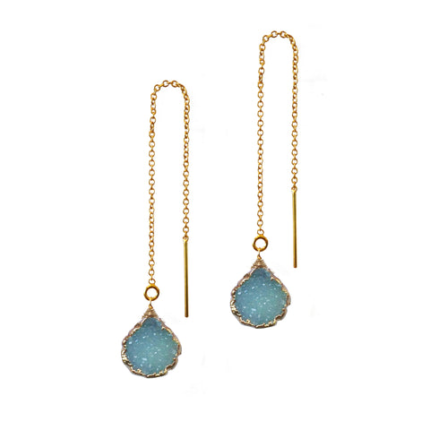 Moonstone Teardrop Chandelier Earrings