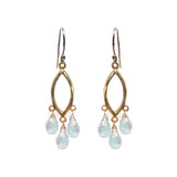 Moonstone Teardrop Chandelier Earrings, Necklaces - Luna Lili Jewelry