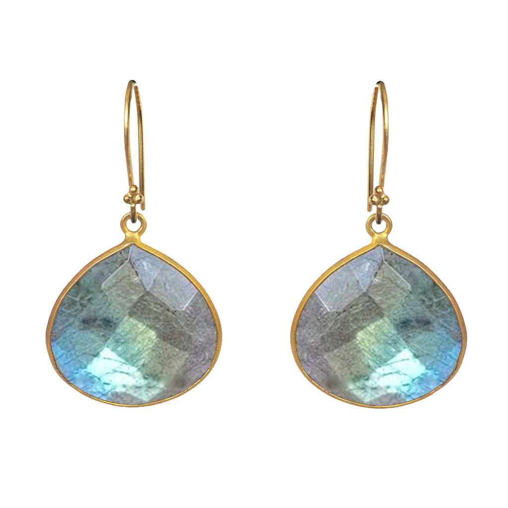 Large Labradorite Dangle Earrings