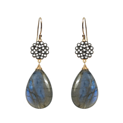 London Blue Pave Earrings