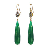 Green Onyx Accent Earrings, Earrings - Luna Lili Jewelry