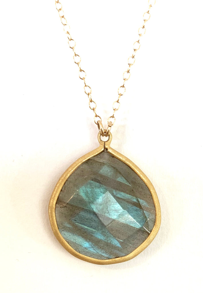 Labradorite Necklace,  - Luna Lili Jewelry