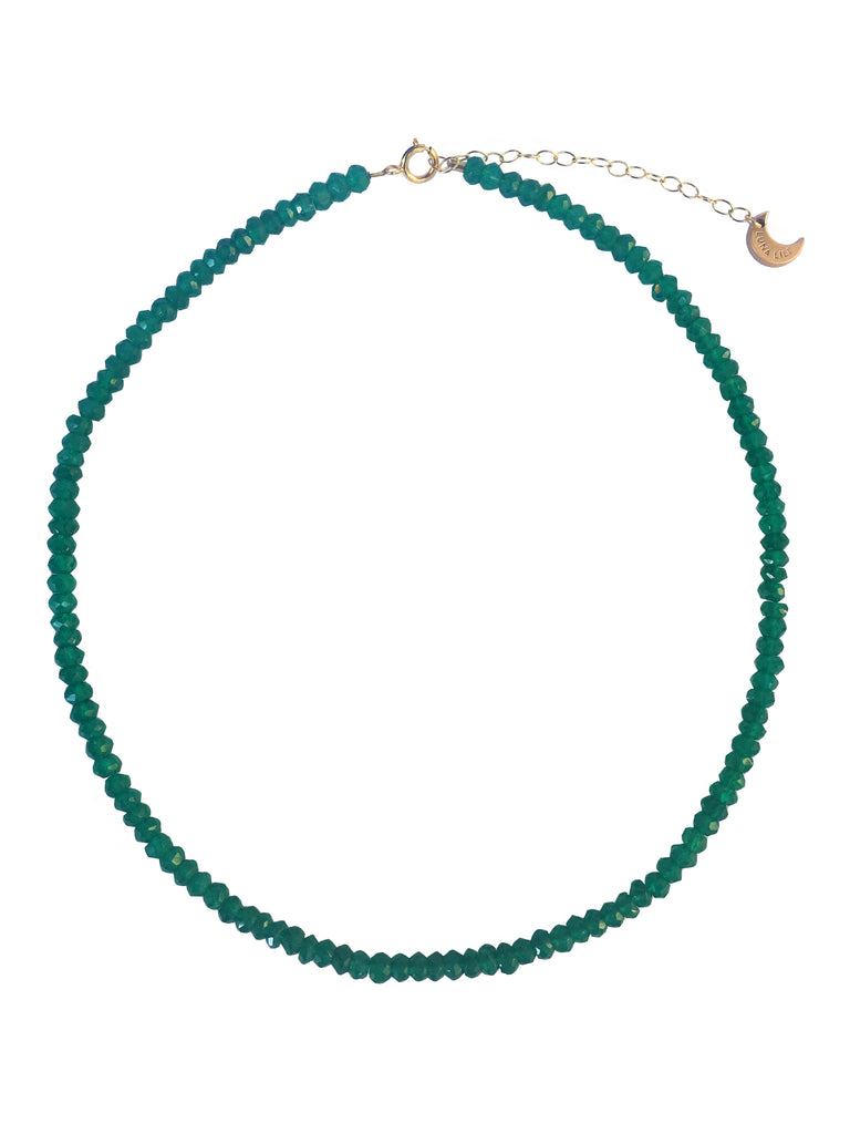Green Onyx Bead Necklace,  - Luna Lili Jewelry