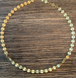 Gold Disc Chain Choker, Necklace - Luna Lili Jewelry