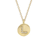 Initial Vermeil Coin Necklace, Necklaces - Luna Lili Jewelry