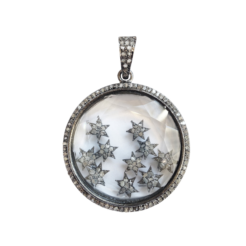 Floating Stars Pendant, Necklaces - Luna Lili Jewelry