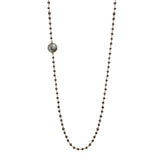 Smoky Quartz Chain with Rutile Quartz Necklace, Necklaces - Luna Lili Jewelry