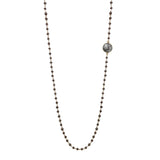 Pyrite & Rutilated Quartz Necklace, Necklaces - Luna Lili Jewelry