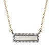 White Topaz Rectangular Mother of Pearl Necklace, Necklaces - Luna Lili Jewelry