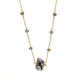 Herkimer Diamond Cradle Necklace, Necklaces - Luna Lili Jewelry