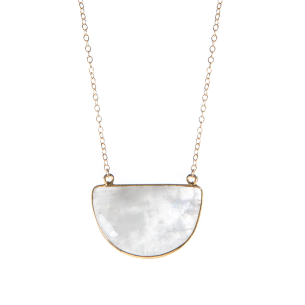 White Moonstone Dream Necklace, Necklaces - Luna Lili Jewelry