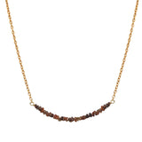 Fire Diamond Bar Necklace, Necklaces - Luna Lili Jewelry