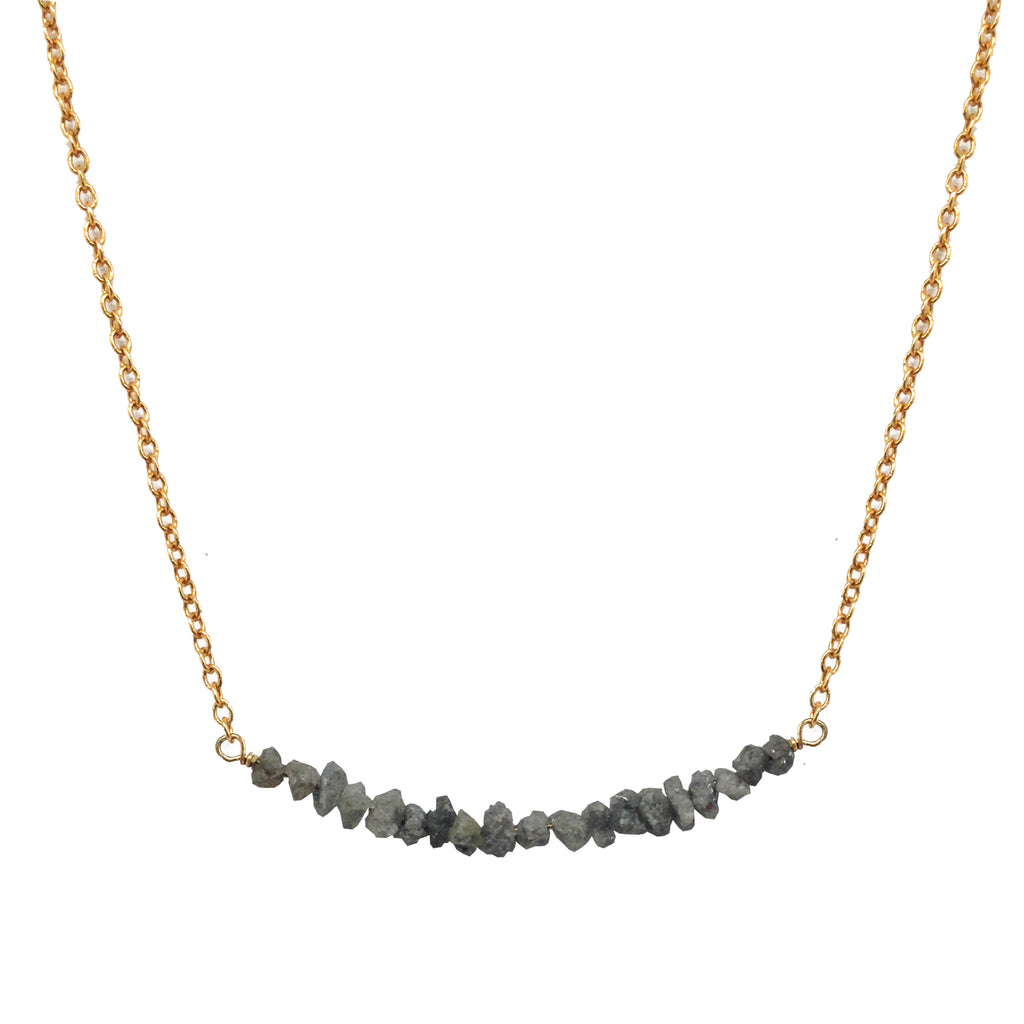 Ice Diamond Bar Necklace, Necklaces - Luna Lili Jewelry