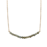 Semi Precious Gemstone Bar Necklace, Necklaces - Luna Lili Jewelry