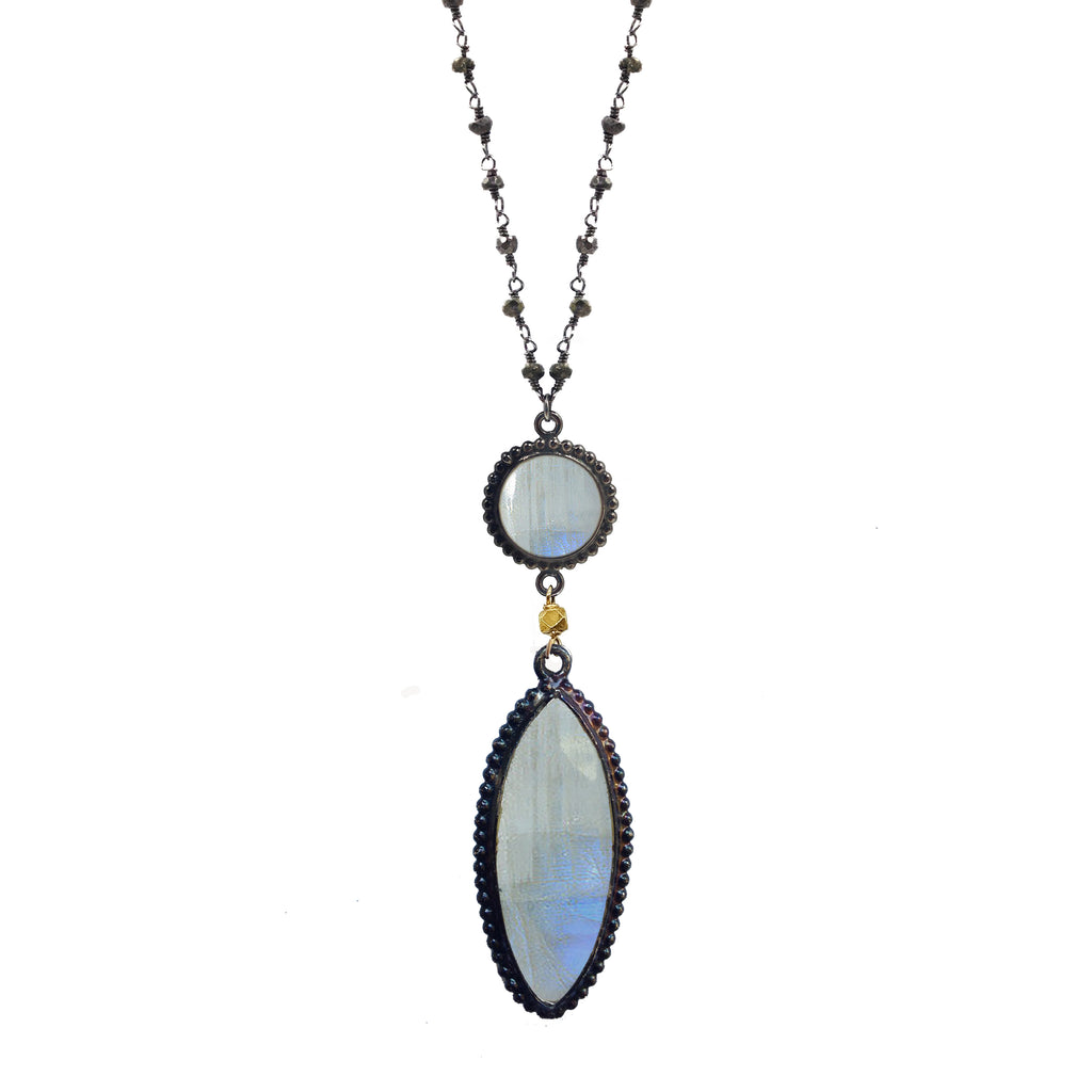 Moonstone Spear Necklace, Necklaces - Luna Lili Jewelry