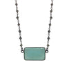 Chalcedony Pyrite Necklace, Necklaces - Luna Lili Jewelry