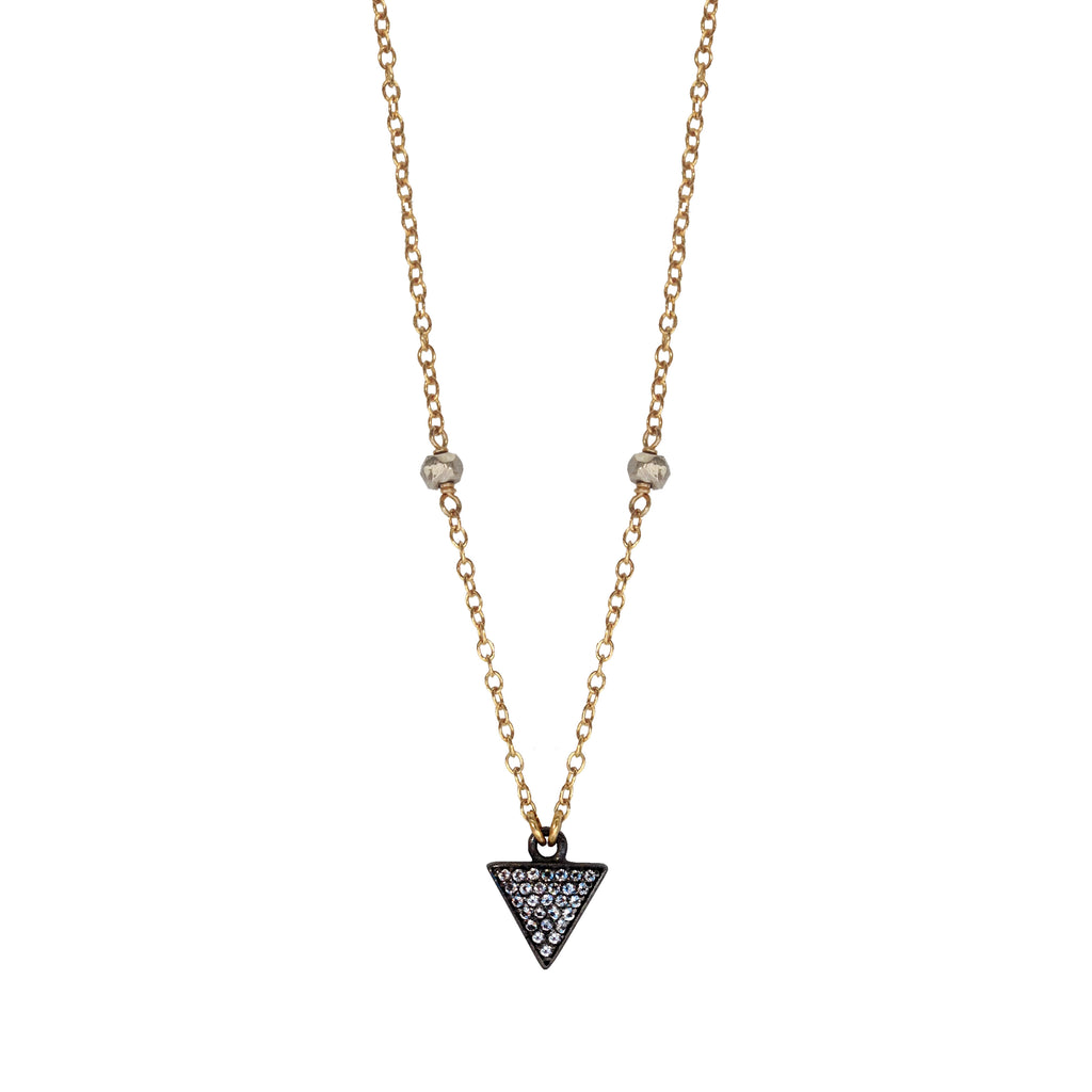 Triangle Silver Nugget Necklace, Necklaces - Luna Lili Jewelry