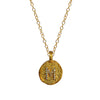 Initial Coin Necklace, Necklaces - Luna Lili Jewelry