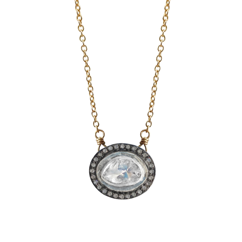 Large Polki Diamond Necklace - Luna Lili Jewelry