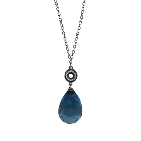 Labradorite Y Necklace