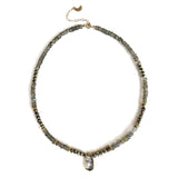 Rutile Pyrite Necklace, Bracelets - Luna Lili Jewelry