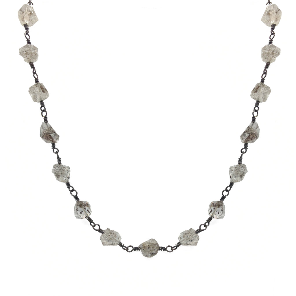 Herkimer Diamond Choker Necklace , Necklaces - Luna Lili Jewelry