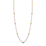 Amethyst & Gold Disc Necklace, Necklaces - Luna Lili Jewelry