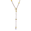 Amethyst & Gold Disc Lariat Necklace, Necklaces - Luna Lili Jewelry