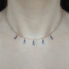 Diamond Drop Choker Necklace, Necklaces - Luna Lili Jewelry