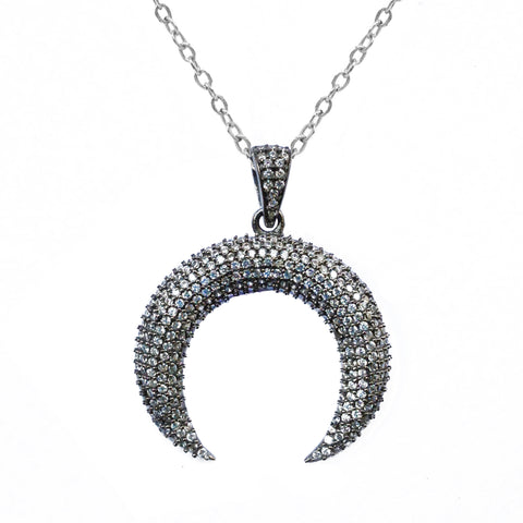 White Topaz Oval Necklace