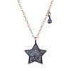 Star & Drop Diamond Charm Necklace, Necklaces - Luna Lili Jewelry