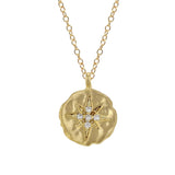 Cubic Zirconia Starburst Charm, Necklace - Luna Lili Jewelry