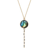 Labradorite Y Necklace, Necklaces - Luna Lili Jewelry
