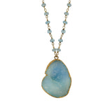 Blue Druzy Necklace, Necklaces - Luna Lili Jewelry