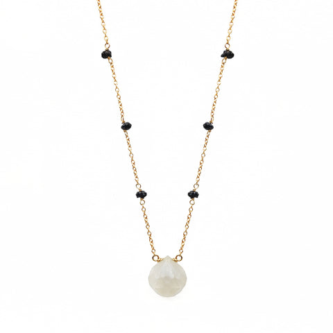 Moonstone & Clover Necklace