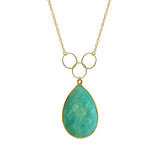 Amazonite Triple Loop Necklace, Necklaces - Luna Lili Jewelry
