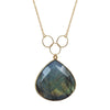 Labradorite Triple Loop Necklace, Necklaces - Luna Lili Jewelry